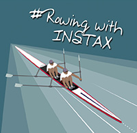 Rowing with instax